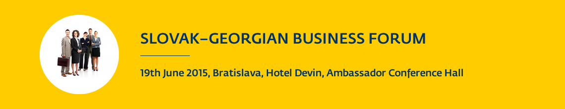 SARIO SLOVAK-GEORGIAN BUSINESS FORUM 2015